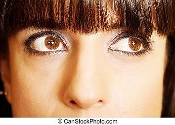 portret, kobieta, closeup, łacina