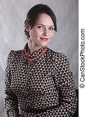 portret, kobieta handlowa