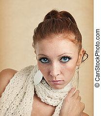 portret, kobieta, sexy