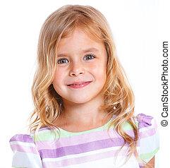 portret, mała dziewczyna