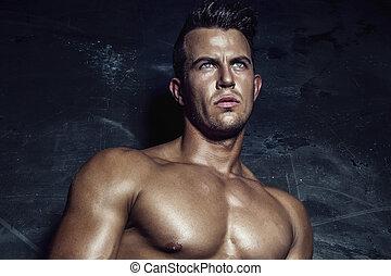 portret, man., sexy