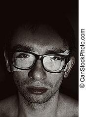 portret, obcy, młody mężczyzna