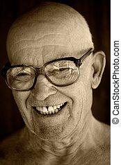 portret, od, na, starszy, man.