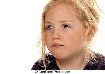 portret, od, niejaki, mały, girl.