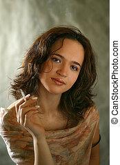 portret, od, przedimek określony przed rzeczownikami, kobieta