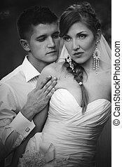 portret, para, goegeous, ślub