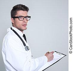 portret, pisanie nakaz, doktor