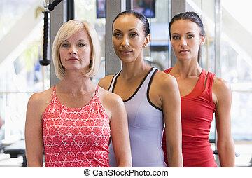 portret, sala gimnastyczna, kobiety