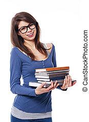 portret, samiczy student