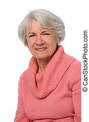 portret, starsza kobieta