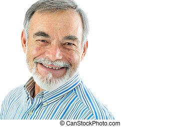 portret, starszy człowiek, przystojny