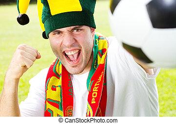 portugál, futball, rajongó