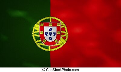 portugais, boucle, tissu, drapeau, wavers, dense, fond