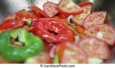portugais, brûler, ragoût, dish., cataplan, légumes, ...