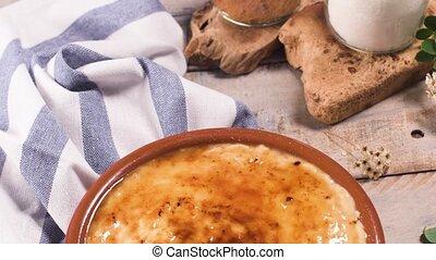 portugais, crème, leite