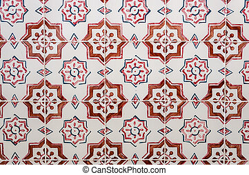 portugais, tilework, peint, azulejos, céramique, traditionnel