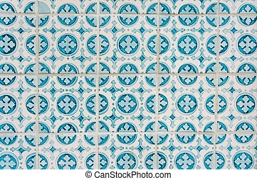 portugais, tuiles, céramique, azulejo, fond