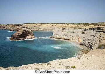 PORTUGAL ALGARVE COSTA VICENTINA COAST - the coast at Cosat ...