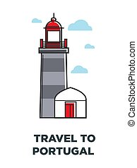 Portugal architectre vector lighthouse symbol - Portugal...