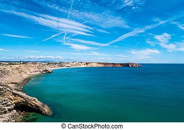 Portugal - Cove under blue sky - A cove in the Atlantic...