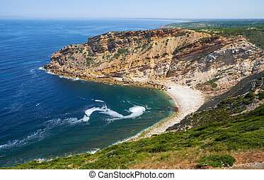 portugal, espichel, sesimbra, cavalo, praia, capa