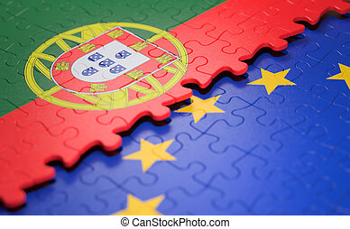 Portugal European Union Puzzle Flag