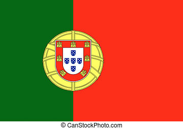 Portugal flag illustration of european country