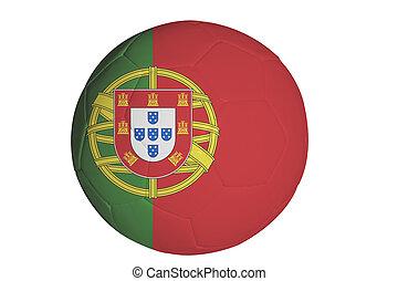 Portugal flag on soccer ball