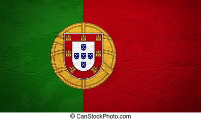 PORTUGAL flag on wall explosion   a