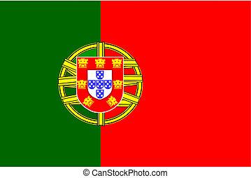 Portugal flag. - Portugal flag - vector image.