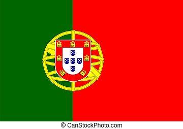 Portugal Flag - Portugal national flag. Illustration on ...