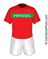 Portugal football uniform