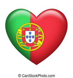 Portugal Insignia Heart Shape - Heart shape of Portugal...