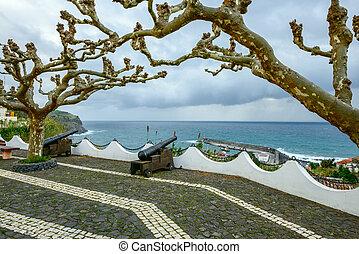 (portugal), lajes, archipel, açores, flores, das, canons
