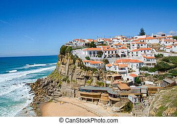 Portugal landscape background - Beautiful coastal view of ...