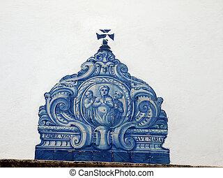 portugal, lawrence's, -, rue., almancil, église