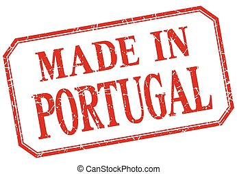 Portugal - made in red vintage isolated label