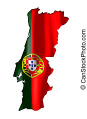 Portugal - map and flag illustration.