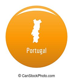 Portugal map in black simple