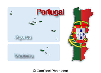 Portugal Map_2.5 - A simple 3D map of Portugal.