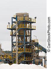 portugal, moderne, raffinerie, machinerie, sel, détails