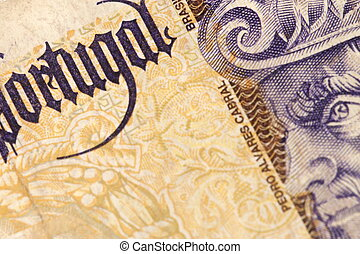 Portugal Paper Money - Portugal vintage old paper money .