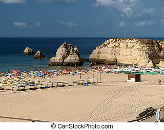 portugal, portimao, da, praia, rocha, algarve, playa