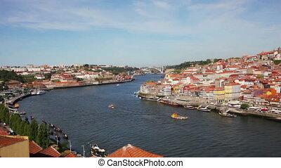 PORTUGAL, PORTO - SEPTEMBER 21,2013: Quarter of Ribeira to...