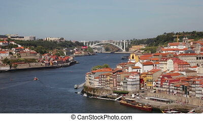 PORTUGAL, PORTO - SEPTEMBER 21,2013: Quarter of Ribeira to...