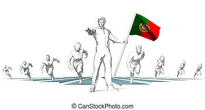 portugal, rennsport, zu, zukunft