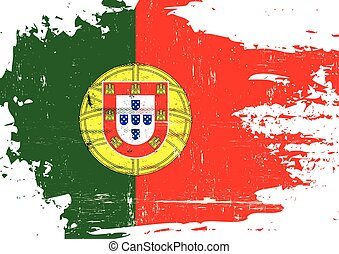 Portugal scratched Flag - A portuguese flag with a grunge...