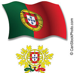 portugal textured wavy flag vector