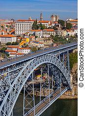 portugal, vieux, -, porto, ville