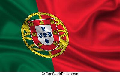 Portugal - waving flag of portugal